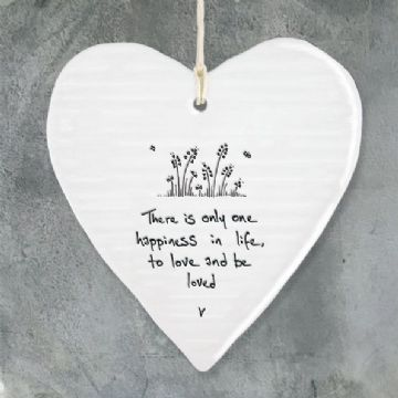 East of India Message Heart - There is only one happiness...